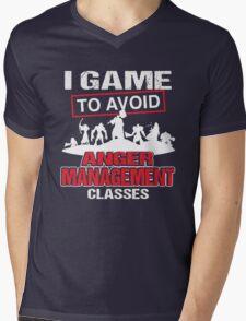 I game to avoid Anger Management Classes Mens V-Neck T-Shirt