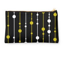 Yellow, black and white pattern Studio Pouch