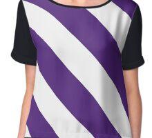 Fort Worth Texas Purple & White Team Color Stripes Chiffon Top