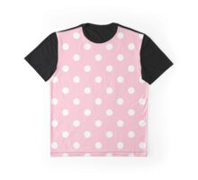 Pink And White Polka Dots Graphic T-Shirt
