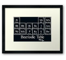 Beeriodic Table light Framed Print