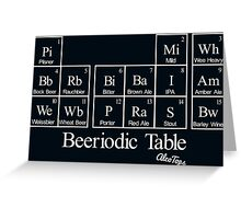 Beeriodic Table light Greeting Card