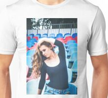 Woman in football strips Unisex T-Shirt