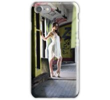 Sexy brunette lady iPhone Case/Skin