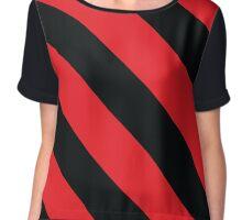 Lubbock Texas Red & Black Team Color Stripes Chiffon Top