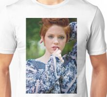 beautiful woman with red hair Unisex T-Shirt