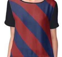 Philadelphia Pennsylvania Navy & Red Team Color Stripes Chiffon Top