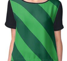 Burlington Vermont Green & Light Green Team Color Stripes Chiffon Top