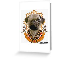 PEE WEE THE PUG TATTOO Greeting Card