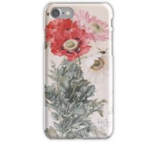 Paul De Longpre Poppies and Bees iPhone Case/Skin
