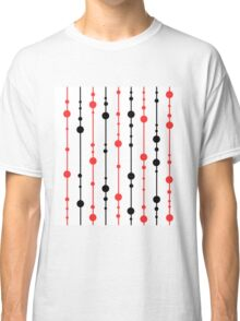 Red, black and white pattern Classic T-Shirt