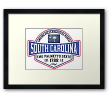 SOUTH CAROLINA THE PALMETTO STATE COLUMBIA CHARLESTON MYRTLE BEACH Framed Print