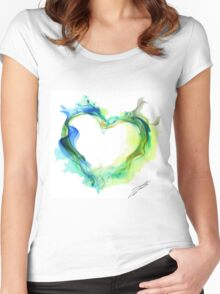 Ink Heart Women's Fitted Scoop T-Shirt