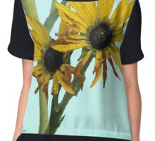 Watercolor Sunflowers Chiffon Top