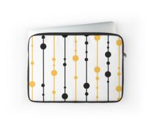 Yellow, black and white pattern Laptop Sleeve