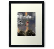 Umbrellas in a Cloudscape Framed Print