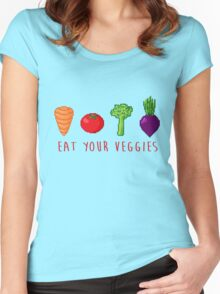 EAT UR VEG Women's Fitted Scoop T-Shirt