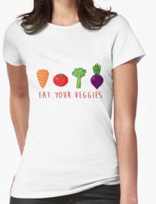 EAT UR VEG Womens Fitted T-Shirt