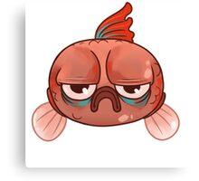More Grumpy Fish Canvas Print