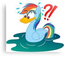 Rainbow Dash Duck My Little Pony Canvas Print