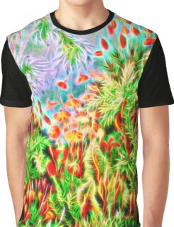 Plants & Animals, magic mushrooms, fungi, bryophyta, moss, psychedelic, art, illustration, haeckel,  Graphic T-Shirt