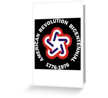 American Revolution Bicentennial Military Greeting Card