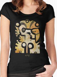 Aztek Adler und Taube Women's Fitted Scoop T-Shirt