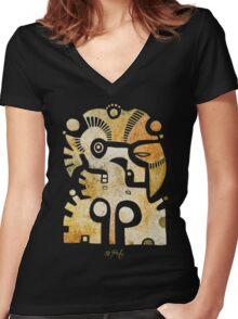 Aztek Adler und Taube Women's Fitted V-Neck T-Shirt