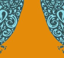 The Day of the Owls - Orange/Teal Sticker