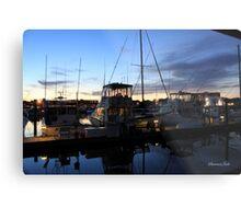 Fishing Boats ~ Waterfront Evening  Metal Print