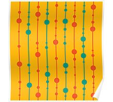 Yellow, green and red pattern Poster