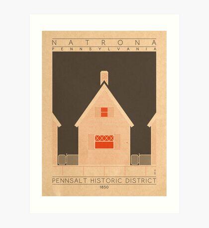 Pennsalt Historic District - 1850 (Orange) Art Print