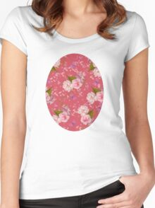 Floral Blossoms Women's Fitted Scoop T-Shirt