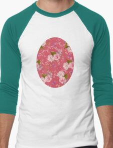 Floral Blossoms Men's Baseball ¾ T-Shirt