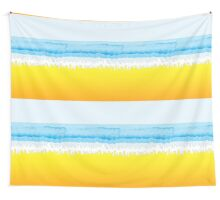 SURF, Beach, Sky, Sea, Ocean, Sand, Surfer, Surfing, Wave, Wave Riding, Body Boarding,  Wall Tapestry