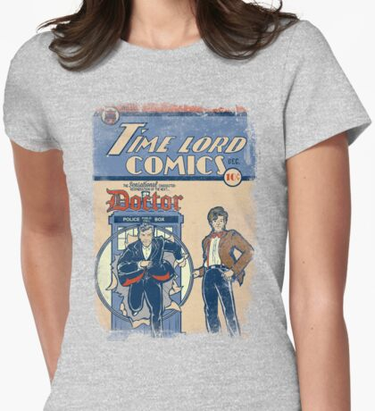 Time Lord Comics Womens Fitted T-Shirt
