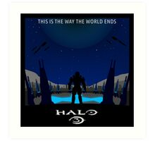 Minimalist Halo 3 Poster Art Print