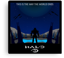 Minimalist Halo 3 Poster Canvas Print