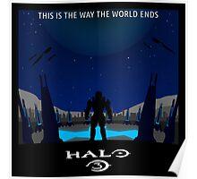 Minimalist Halo 3 Poster Poster