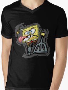 sponge Mens V-Neck T-Shirt