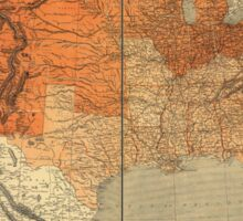 Map of the United States (1861) Sticker