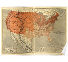 Map of the United States (1861) Poster