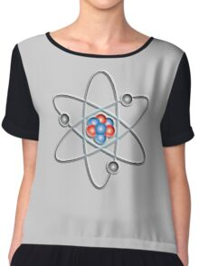 ATOM, ATOMIC, Lithium atom, model, SMALL, Physics, Neutrons, Protons, Electrons, Nuclear, Energy, Fission, Fusion  Chiffon Top