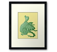 cute dragon mythical and fantasy creature art Framed Print