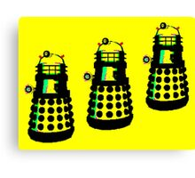 YELLOW AND BLACK DALEK ATTACK Canvas Print