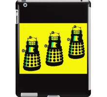 YELLOW AND BLACK DALEK ATTACK iPad Case/Skin
