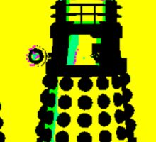 YELLOW AND BLACK DALEK ATTACK Sticker