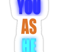 God Loves You As He Loved Jacob - Glow Sticker