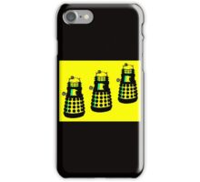 YELLOW AND BLACK DALEK ATTACK iPhone Case/Skin