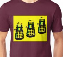 YELLOW AND BLACK DALEK ATTACK Unisex T-Shirt